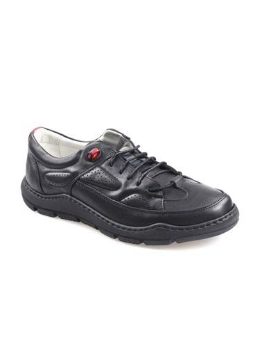 James Franco 5550 Ortapedik Siyah Günlük Erkek Deri Ayakkabı Siyah